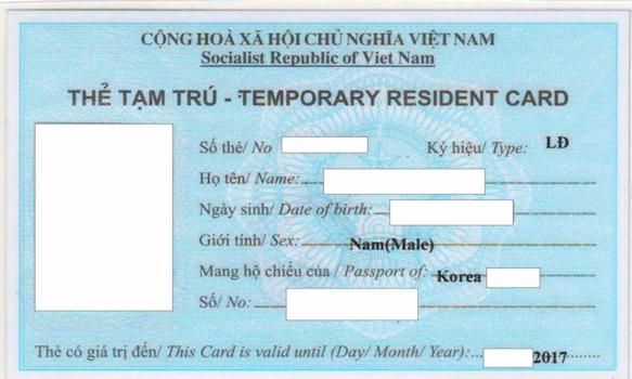 Dịch vụ xin thẻ tạm trú